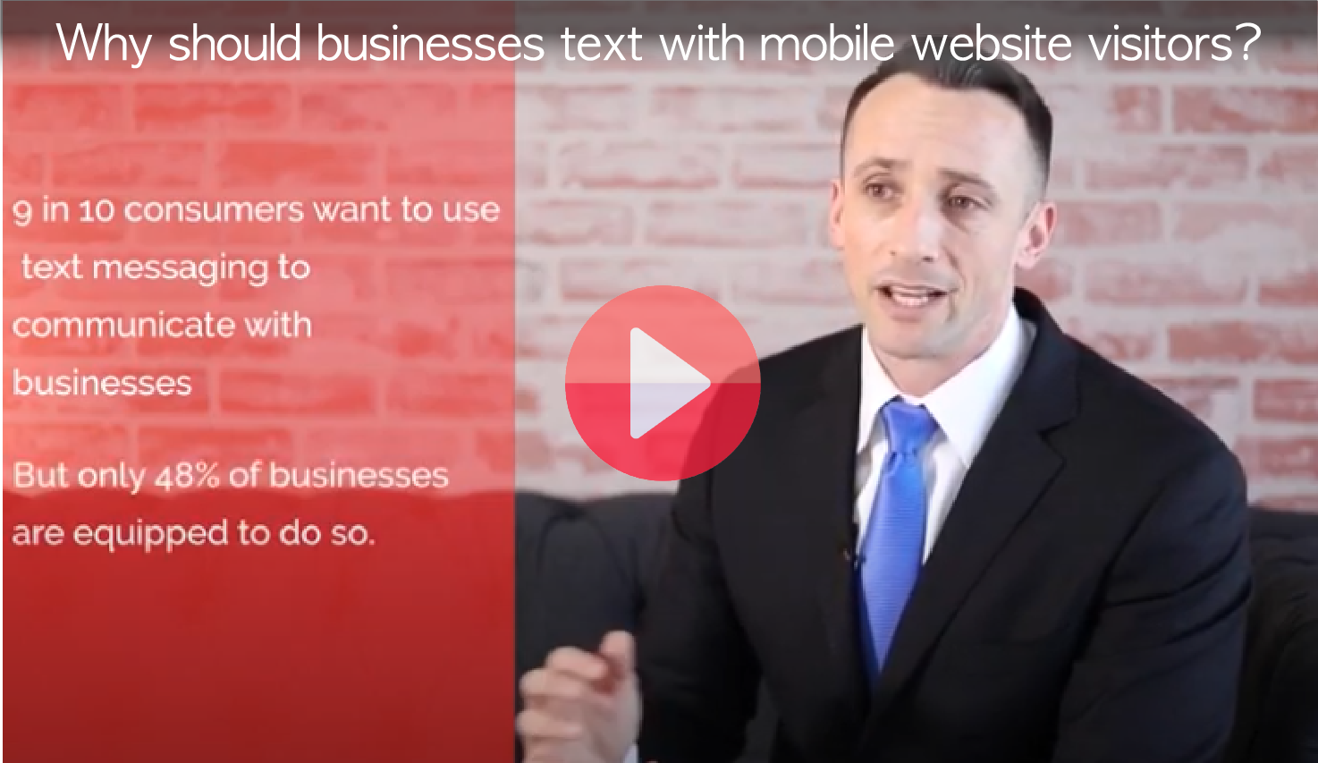 Text with website visitors
